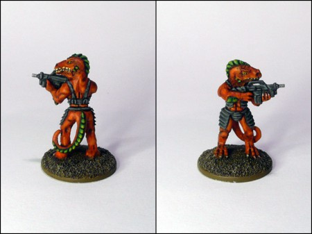 Raizze trooper from Lancer Miniatures.