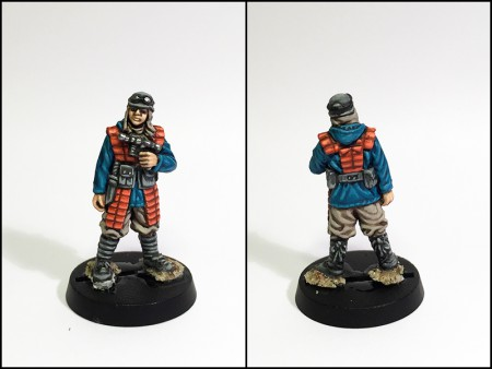 "Kid, repainted ""Blaster for hire"" Star Wars miniature from WOTC"