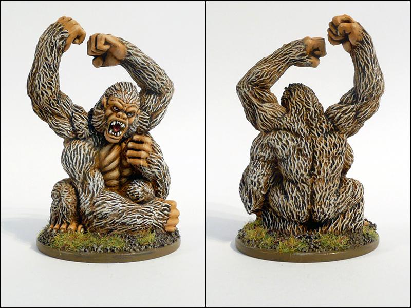Repainted D&D Miniatures Girallon